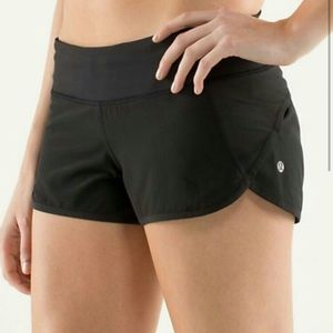 Black Lululemon running shorts 2